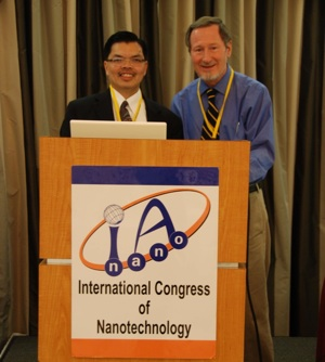 Chairman Lloyd Tran with Nobel Laureate Douglas Osheroff